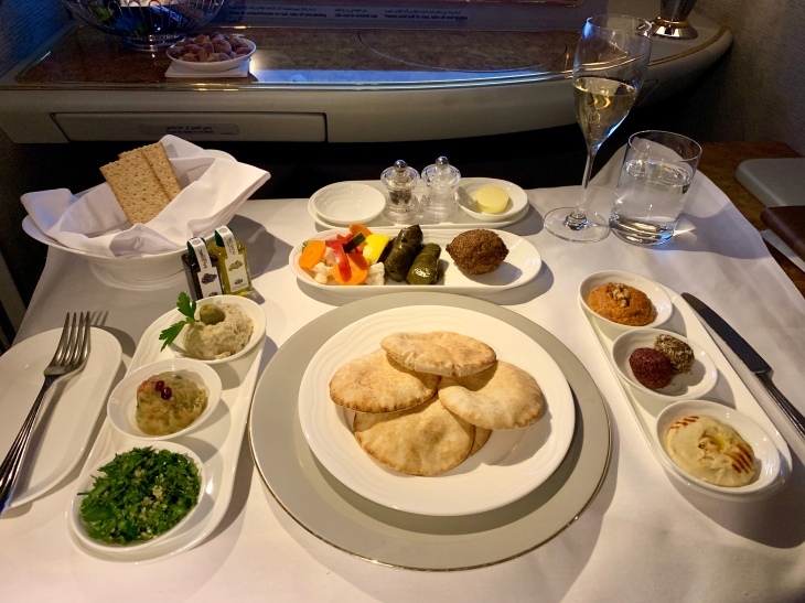 Arabic Mezze on Emirates First