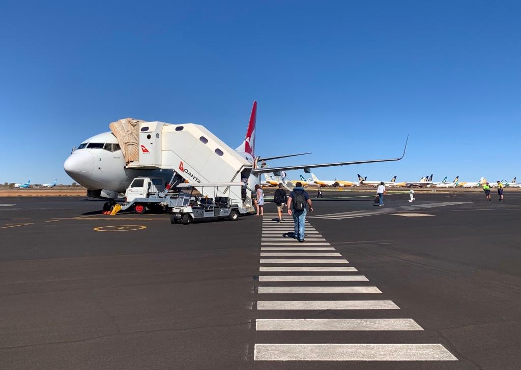 Qantas aircraft at Alice Springs