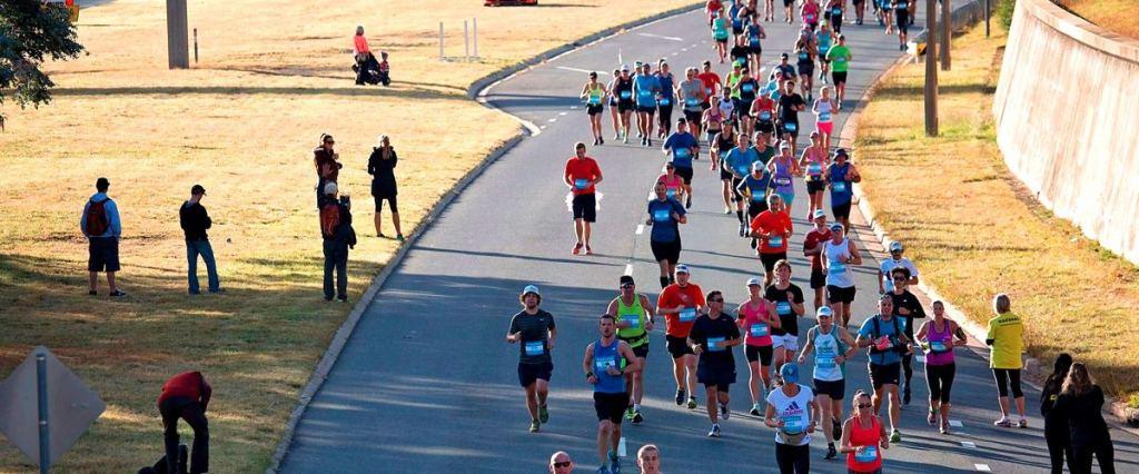 Canberra marathon at state circle