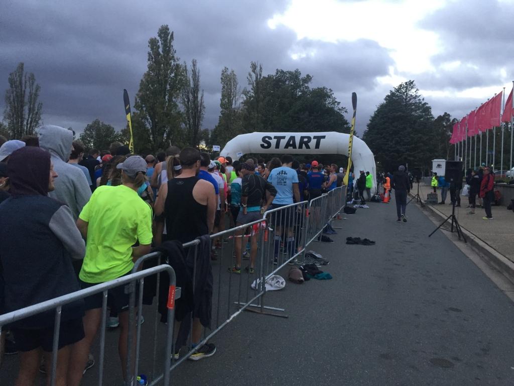 Canberra marathon start line
