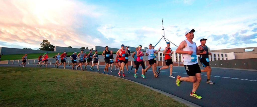 Canberra Marathon at Parliament House